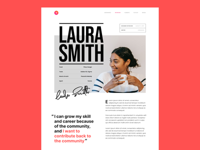 #Exploration - Editorial Design - 02 page details hero article news blog signature photography clean overlap layout editorial bold magazine typography whitespace ux ui design website
