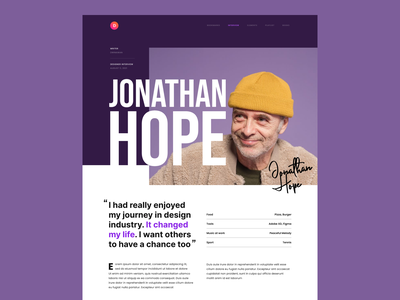 #Exploration - Editorial Design - 03 news page details article blog photography ux ui overlap website clean spacing bold whitespace typography magazine layout design editorial