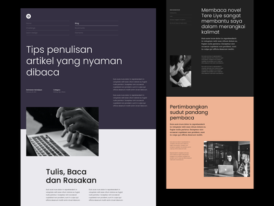 #Exploration - Article Page news page details blog landing page hero section blocking unique magazine editorial grayscale whitespace layout typography article design website ui
