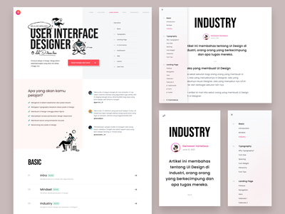 Learning Platform Redesign page detail news article typography bold whitespace clean gradient responsive sidebar education redesign learning dashboard design website