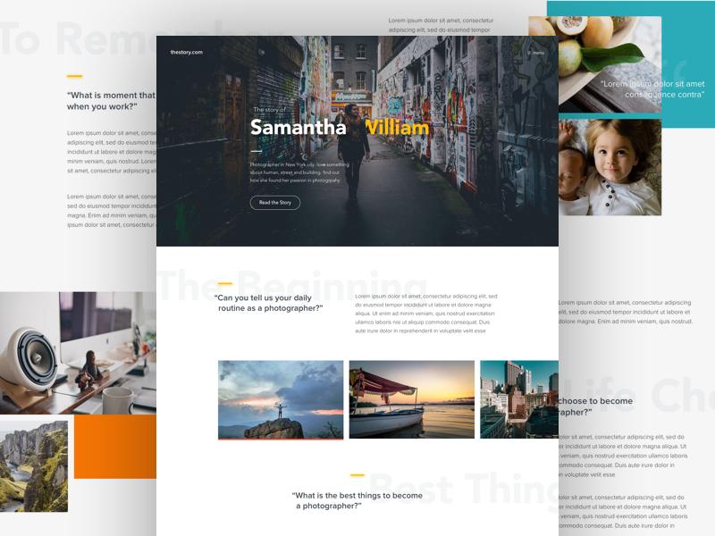 #Exploration | Website Interview overlap interview article typography photo homepage page landing desktop website web