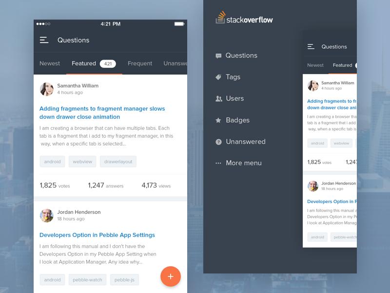 #Exploration | Stackoverflow Mobile App