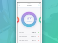 #Exploration | Thermostat Dashboard Mobile App