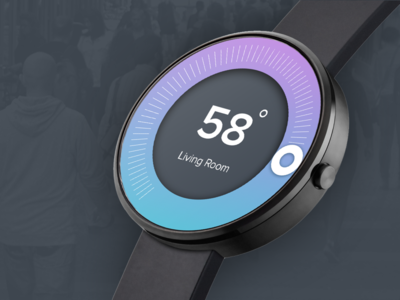 #Exploration |  Thermostat Dashboard for SmartWatch