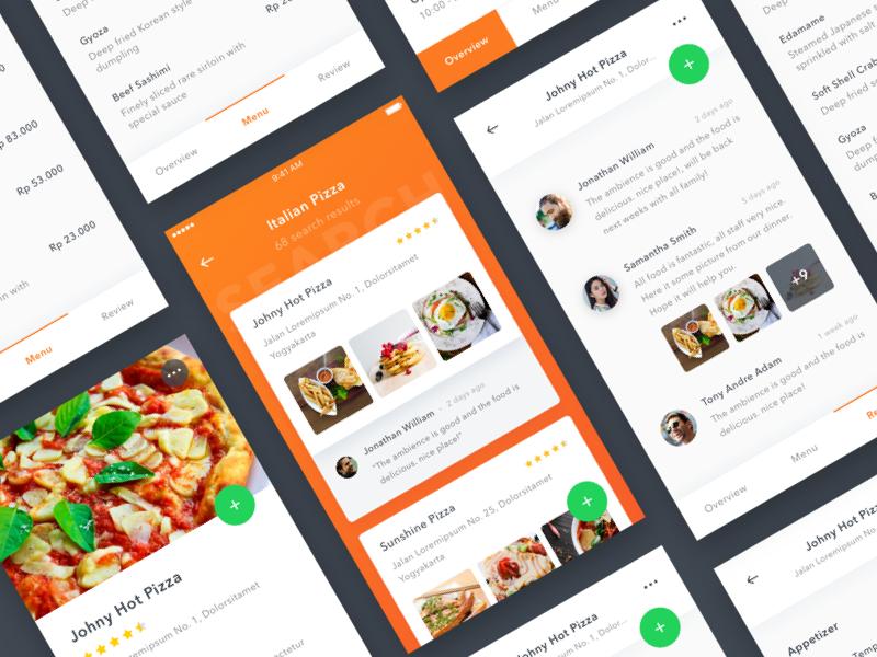 #Exploration | Restaurant App ios app photo detail review card comment burger pizza restaurant food
