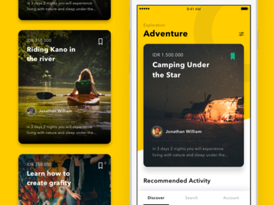 #Exploration | Activity App package tour activity home ios11 card iphone android ios