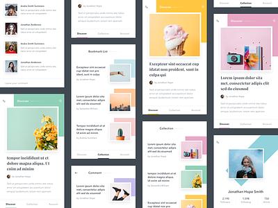 #Exploration | Pastel Color #2 thumbnail list detail clean pastel pallete color article android ios app