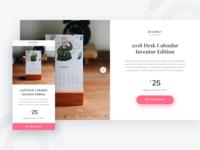 Supply by Paperpillar - Calendar Landing Page