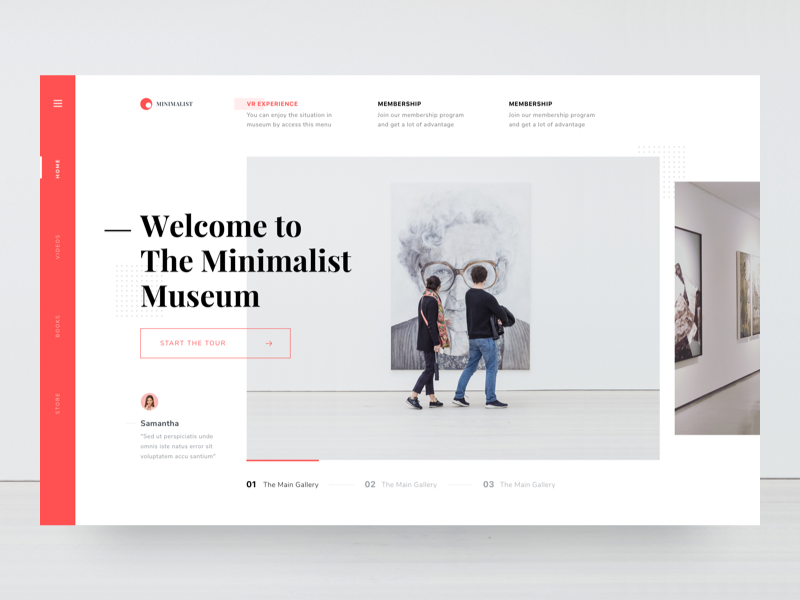 #Exploration | Museum Website by Dwinawan for Paperpillar
