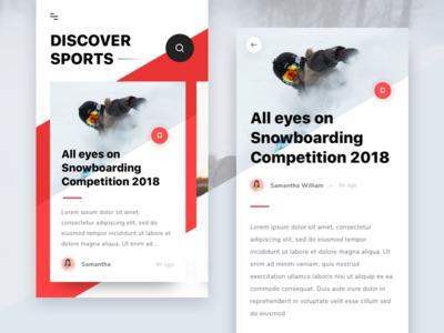 #Exploration | Sport Magazine App