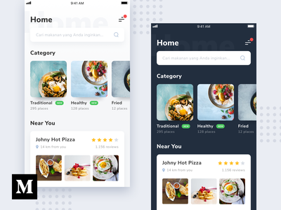 #Article - Process from Wireframe to High Fidelity theme dark white card clean photography photo food app ios ui medium article