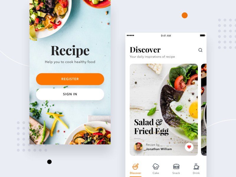 #Exploration - Recipe App icons icon cook bold ios 11 android ios card food recipe mobile app ui