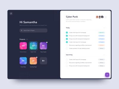 #Exploration - Dashboard for Task Management