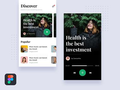 #Tutorial - Create UI Design using Figma ui tutorial podcast play music medium ios figma design card article android