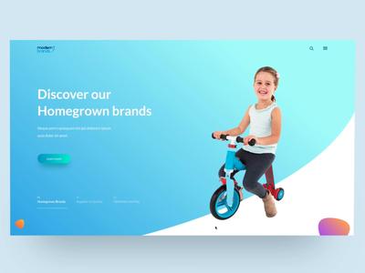 Modern Brands - Website Concept | Transition