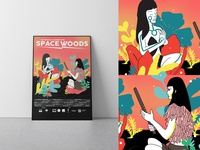 Space Woods Poster