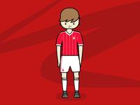 Footballer #1 blockhead footballer football