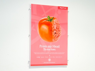 Healthy Eating Posters - Super Foods satsuma broccoli blueberry tomatoe cafe poster healthy eating poster food poster super food healthy eating