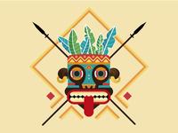 AZTEC spear mask aztec