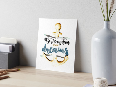 Be the captain of your dreams / Poster