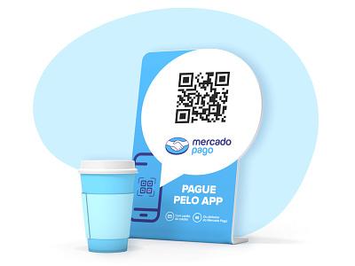 Nuevo código QR de Mercado Pago carteleria pieza pago cobro wallet mercadopago brading qr