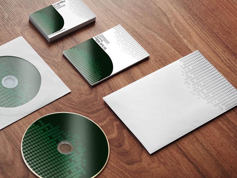 Stationary Mockup stationary business card identity cd envelope dj