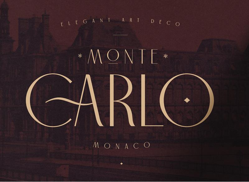 Carlo Monaco - Elegant Art Deco Typeface elegant simple artdeco branding contemporary typeface font creative market