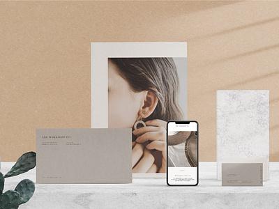 Branding Mockup Scene Creator minimal mockup website branding design graphic design