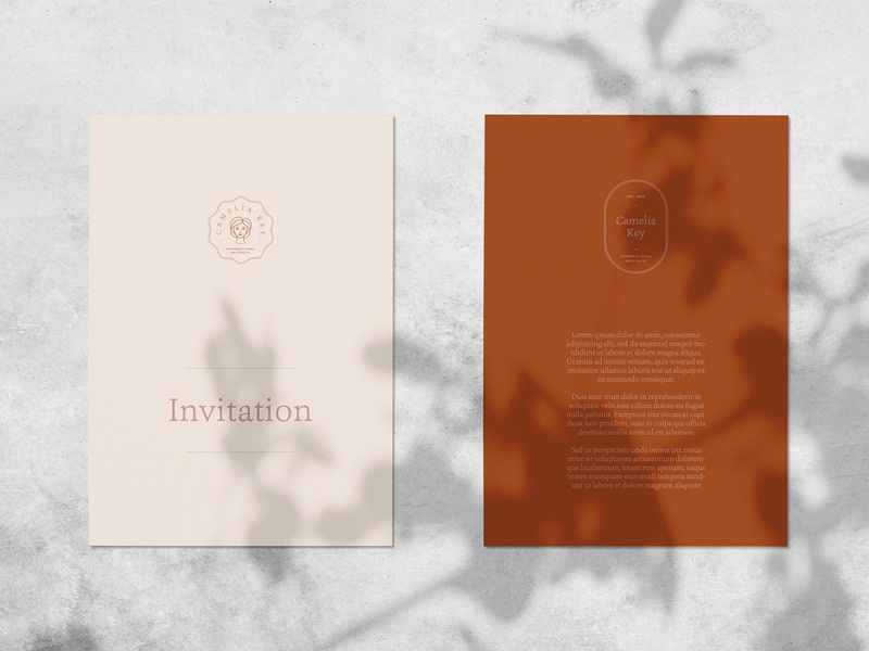 Camelia - Logo Kit branding scene creator stationery mockup mock up natural light photography flat lay contemporary