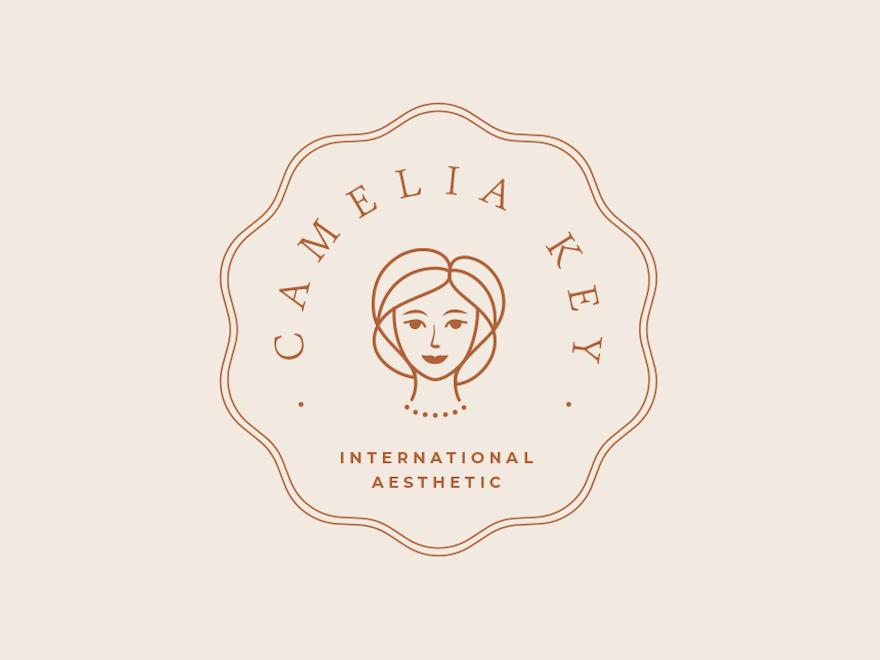 Camelia Logo Kit branding feminine logo spa design logo contemporary