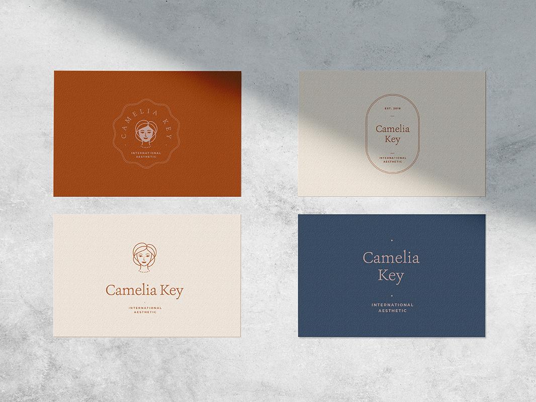 Camelia Logo logo spa feminine logo natural light photography flat lay mock up branding contemporary