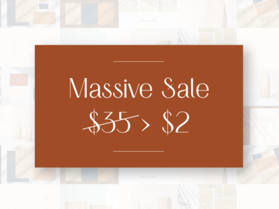 $2 SALE - ENTIRE SHOP - 1 DAY ONLY!
