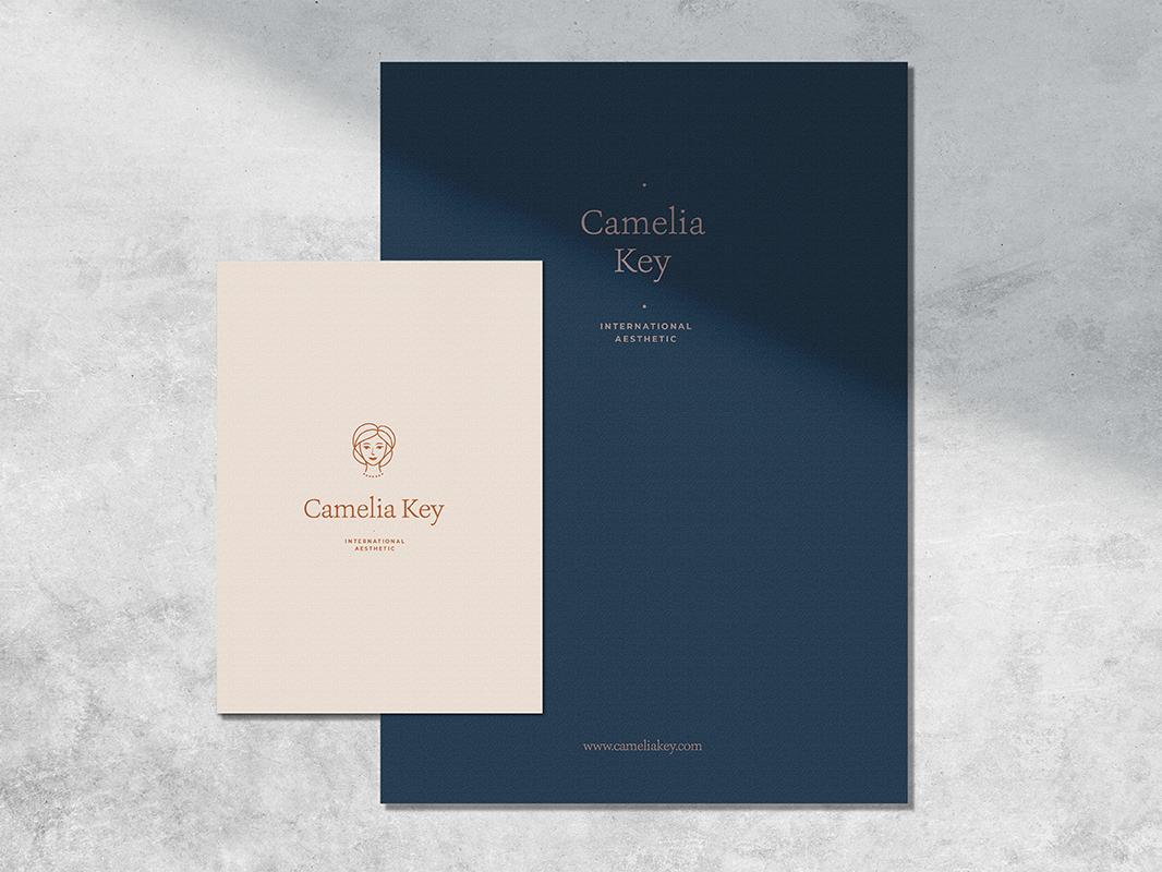 Camelia Logo Kit creative market contemporary illustration branding logo
