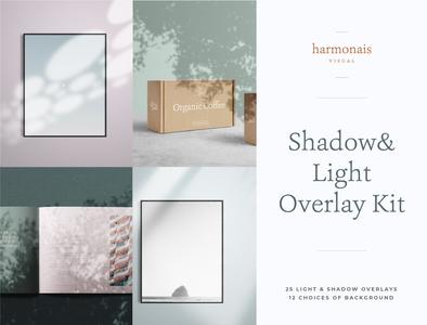 Shadow & light overlay kit mock up contemporary creative market