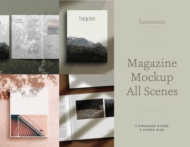 Magazine Mockup Kit scene creator natural light photography mock up contemporary creative market