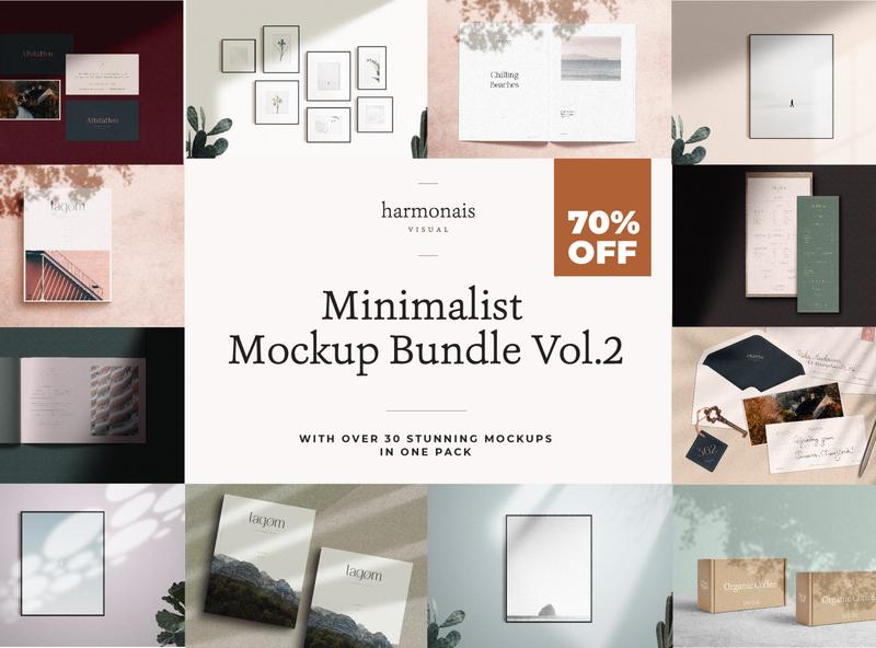 Mockup Bundle Vol.2 bundle scene creator natural light photography branding mock up contemporary creative market