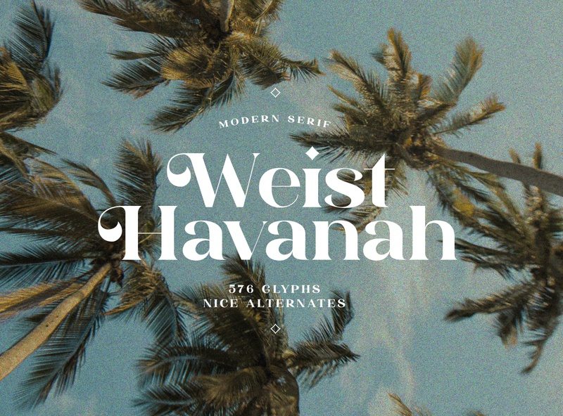 Weist Havanah - Modern Serif serif chic modern font design design logo contemporary typeface font creative market