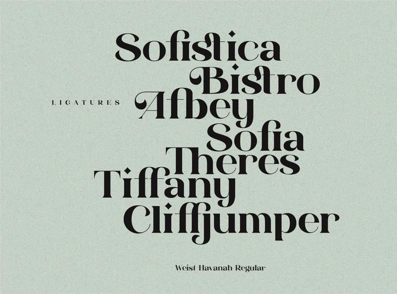 Weist Havanah - Modern Serif logo font design branding contemporary typeface font creative market