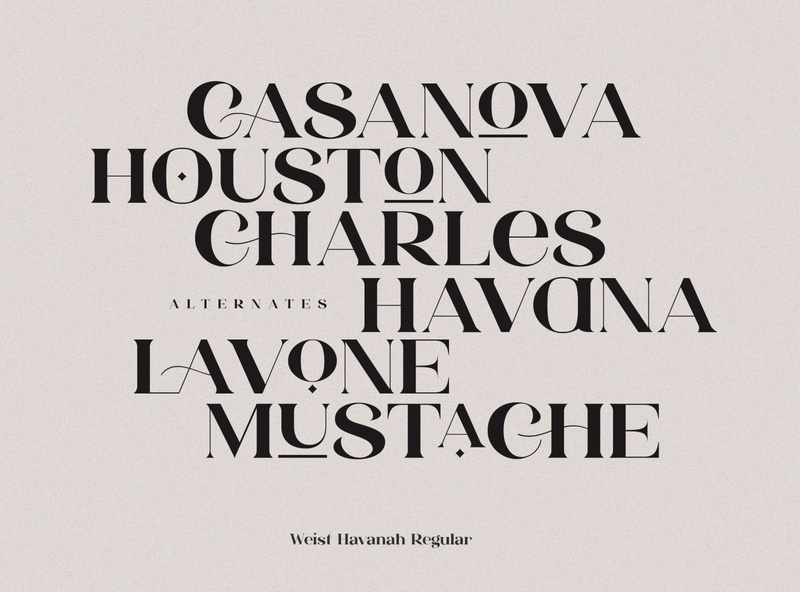 Weist Havanah - Modern Serif logo contemporary font typeface creative market