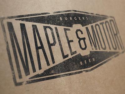 Maple & Motor branding logo student work burgers beer