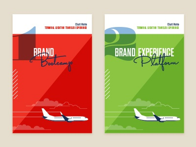 Process Books green red typography script retro airplane illustration