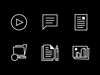 Post Format Icons icons linear line work
