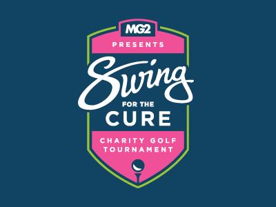 Golf tournament logo gotham lettering script navy green pink golf golf tournament logo identity