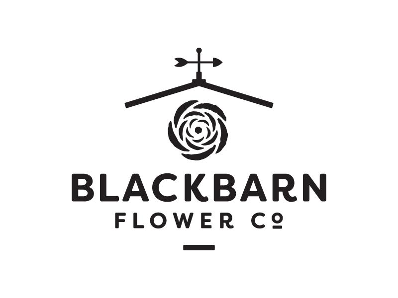 Blackbarn logo weather vane barn flower logo