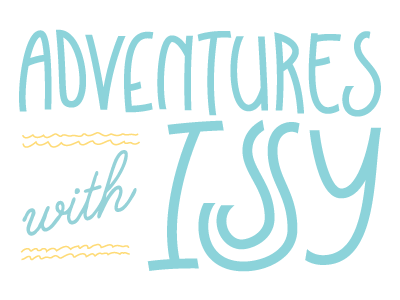 Adventures With Issy typography handwriting lettering