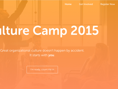 Culture Camp 2015 culture unconference museo sans rounded