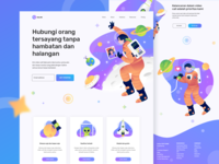 Callme Landing Page - Connecting Planets
