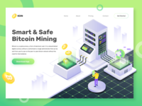 Smart & Safe bitcoin Mining landing Page