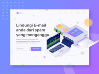 Smart E-mail for better life Hero Landing page