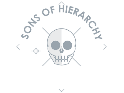 Sons of Hierarchy (work in progress) sons of anarchy sons of hierarchy illustration moshfolio skull
